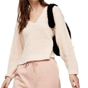 TOPSHOP V-Neck Ribbed Sweater